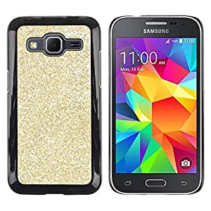 Design for Girls Plastic Cover Case FOR Samsung Galaxy Core Prime Gold Glitter Bling Money Rich Sparkly OBBA