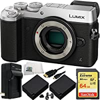 Panasonic Lumix DMC-GX8 Mirrorless Micro Four Thirds Digital Camera (Silver) - International Version with No Warranty 8PC Bundle Overview Review Image