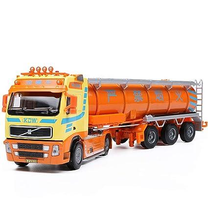 Camión Cisterna 6 Ruedas Embrague Aleación Diecast Modelo Herramientas de Transporte para pequeños Regalos para bebés