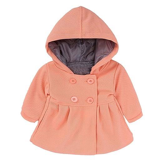 5bcf18059 Amazon.com  RENGANG Baby Toddler Girls Fall Winter Trench Coat Wind ...