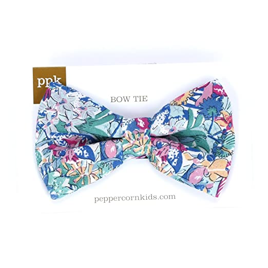Peppercorn Kids Boys Floral Bow Tie-Tropical