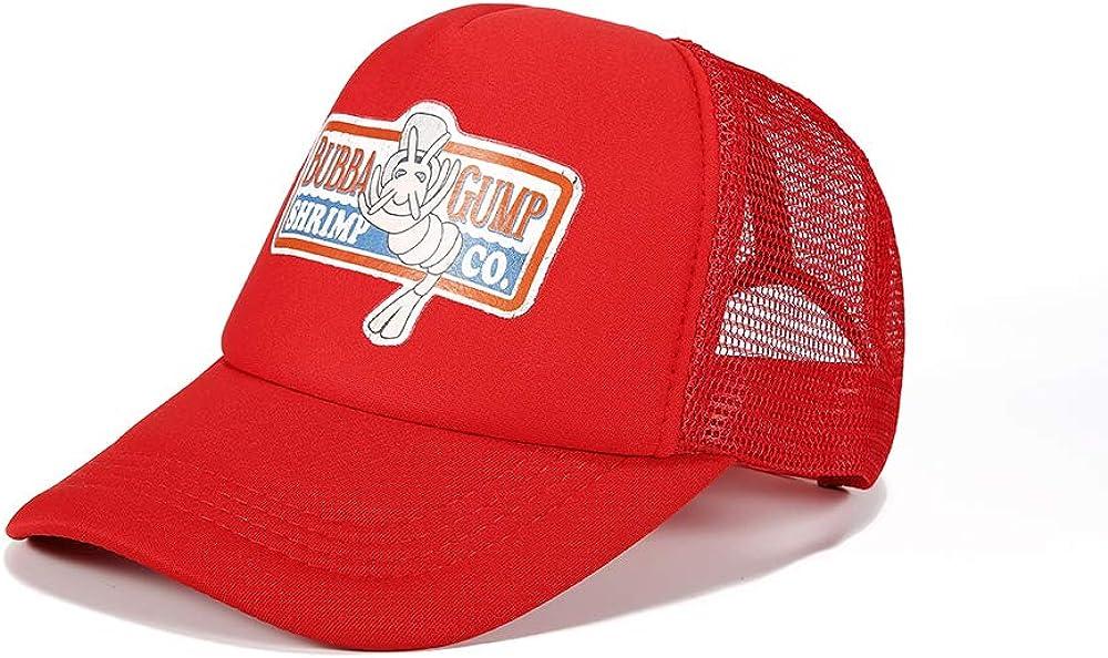 NXINGCHENR Bubba Gump Baseball Cap hat Mesh Cap Dad hat Halloween Cosplay Red