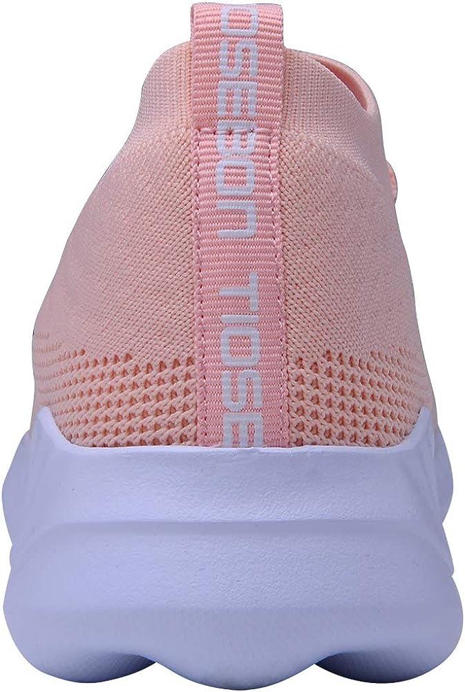 TIOSEBON - Zapatillas deportivas deportivas para mujer, transpirables, para verano, ligeras, para caminar 2132 Rosa ENLED