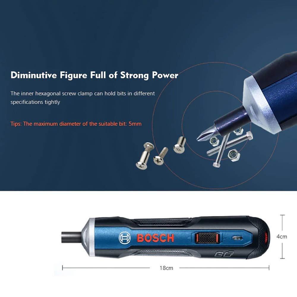 3,6 V, incluye cable de carga USB y adaptador Bosch Go Taladro atornillador inal/ámbrico