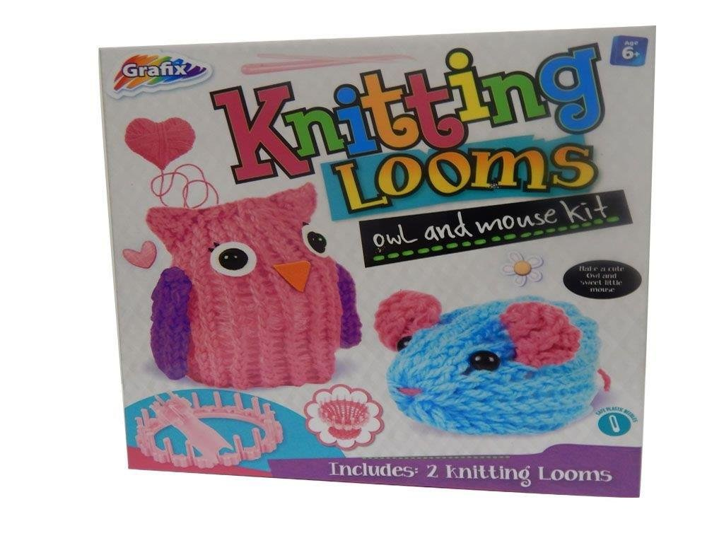 Express to You Owl & Mouse Knitting Set - Toy Gift or Christmas or Birthday for Children / Kids Over Age 6+