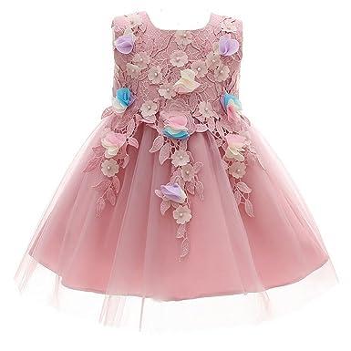 AHAHA Lila Baby Mädchen Prinzessin Kleider Blumenmädchen Kleid ...