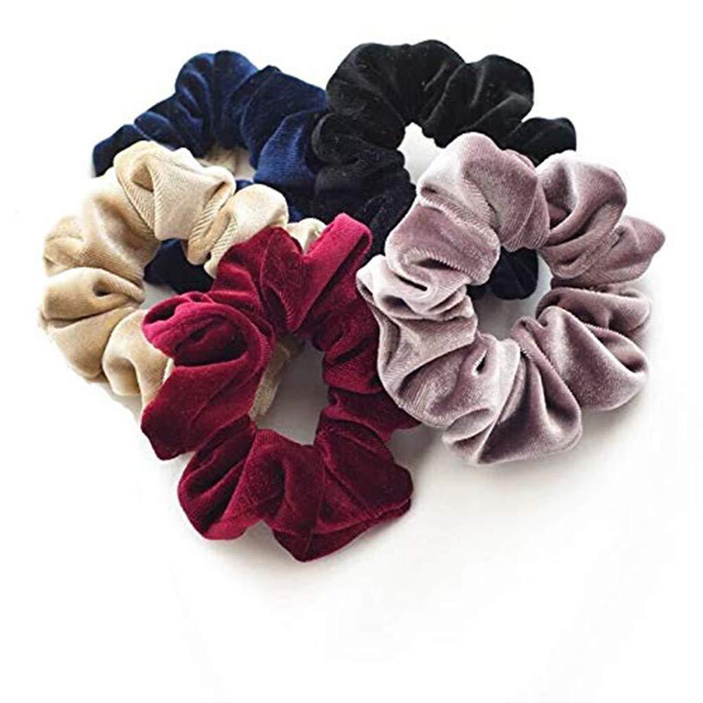 Multicolor 2019 Hot Fashion Headbands,Women Girls Elastic Velvet Ponytail Holder Scrunchie Hair Accessories 40 Pcs Set