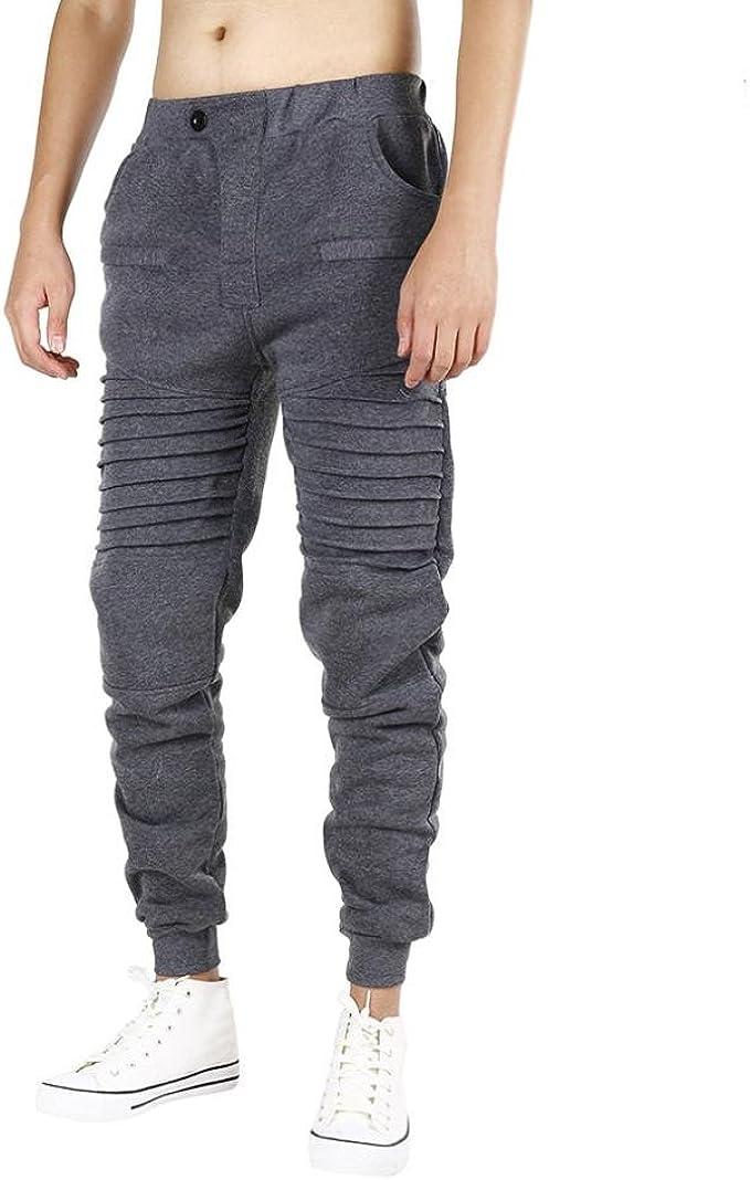 Paellaesp Hombres casual ropa deportiva holgado pantalón ...
