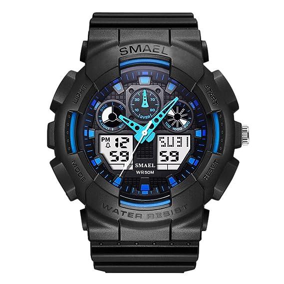 Grande Hombres Relojes Digitales Originales del Diseñador Reloj de Pulsera Digital de Pantalla: Amazon.es: Relojes