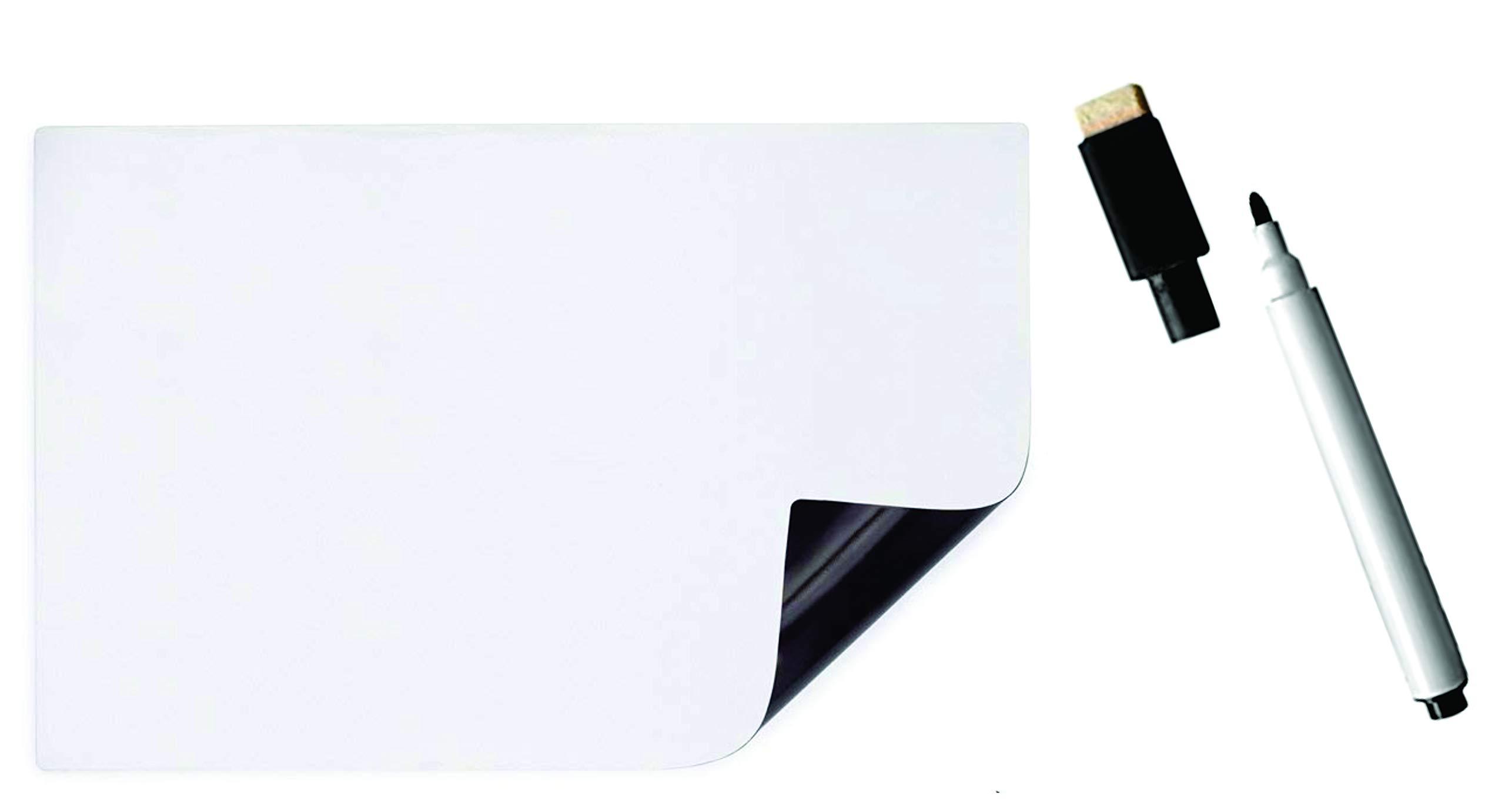 IMPRINT'S Set of Fridge Magnet Sheet Soft Magnetic Sheet and Eraser Cum Marker, Kitchen/Home Whiteboard 7'' x 5'', Magnetic Dry Erase Board Sticker on Iron Metal Surface