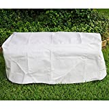 KoverRoos DuPont Tyvek 24213 5-Feet Garden Seat Cover, 63-Inch Width by 28-Inch Diameter by 18-Inch Height, White For Sale