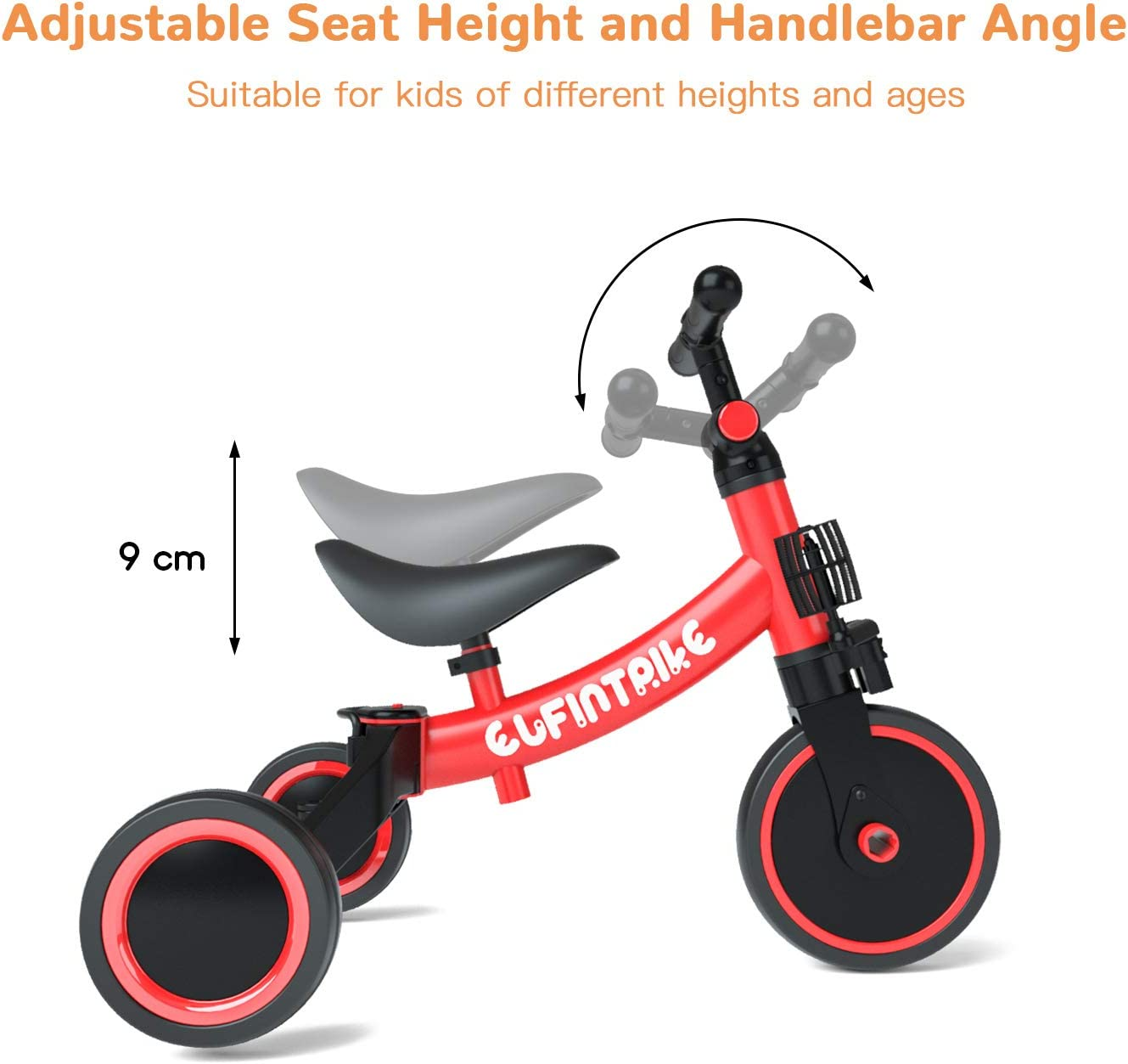 besrey 5 in 1 Toddler Bike for 1-3 Years Old Kids Toddler Tricycle Kids Trikes Tricycle Ideal for Boys Girls