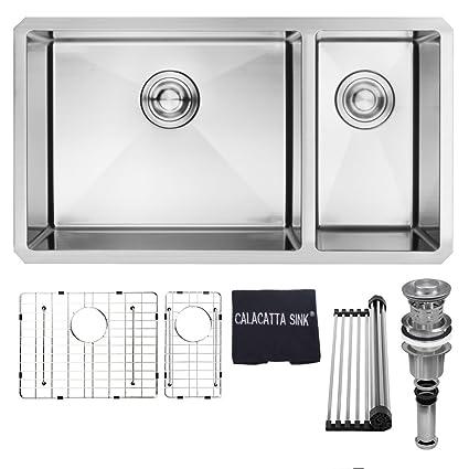 Amazon.com: Calacatta - Fregadero de cocina (acero ...