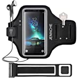 Galaxy S20/S10/S9/S8 Armband, JEMACHE Gym Running Workouts Exercises Phone Arm Band Case for Samsung Galaxy S20/S10/S9/S8/S7 Edge with Key Holder (Black)