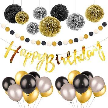 Amazon.com: Globos de cumpleaños para hombre de 18 años, 20 ...