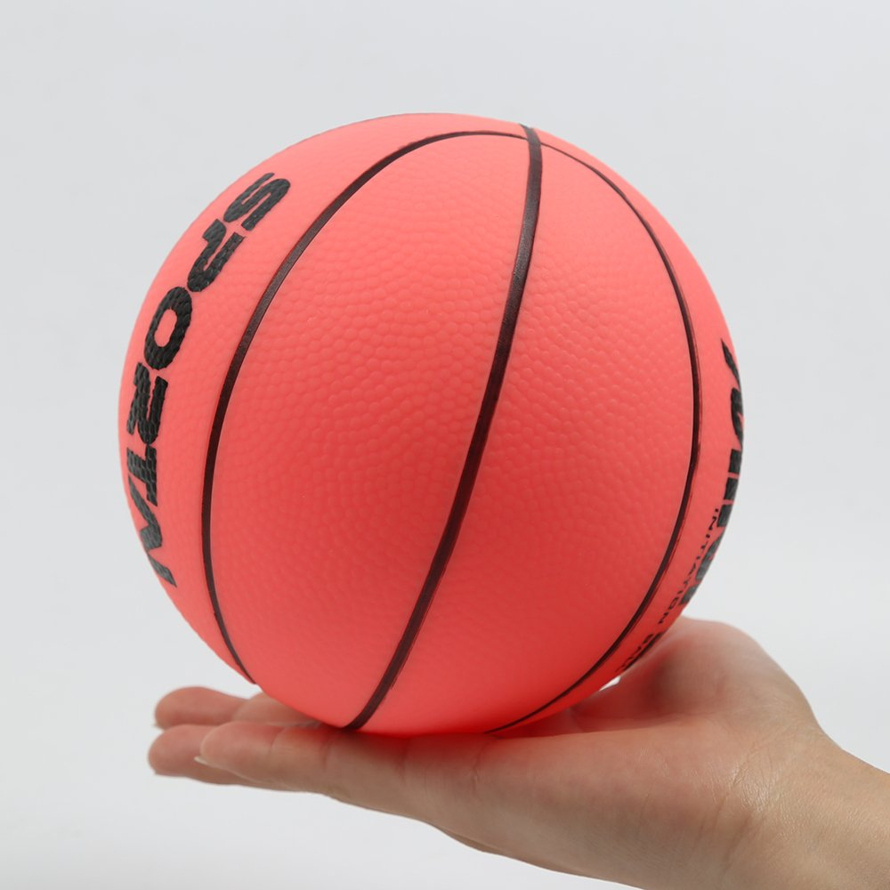 Kids Replacement Basketball, Stylife Indoor Mini Hoop Ball - 5 inch diameter (red) …