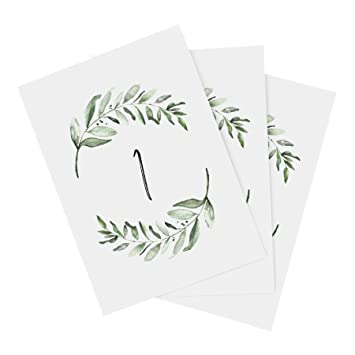 amazon com greenery wedding table numbers 1 25 centerpiece