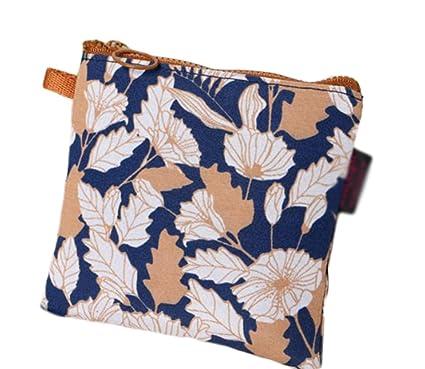 Vikenner – Compresa higiénica, paquete de almacenamiento, bolsas de tela naturales con estilo, paquete cuadrado multiuso, bolsa pequeña, bolsa para ...