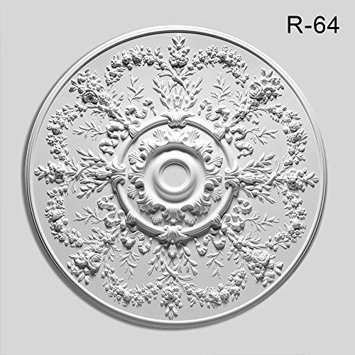 Orac Decor Ceiling Medallion R-64 Ceiling Medallion, Primed White. Diameter: 37-5/8