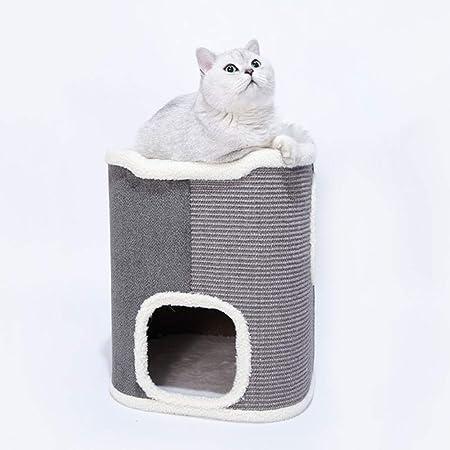 Cubo de Sisal Multifuncional Árboles para Gatos Arañazo Gatos Juguetes de Sisal Natural Nido de Gato Rascador para Gatos Arañar Juguete,02: Amazon.es: Hogar