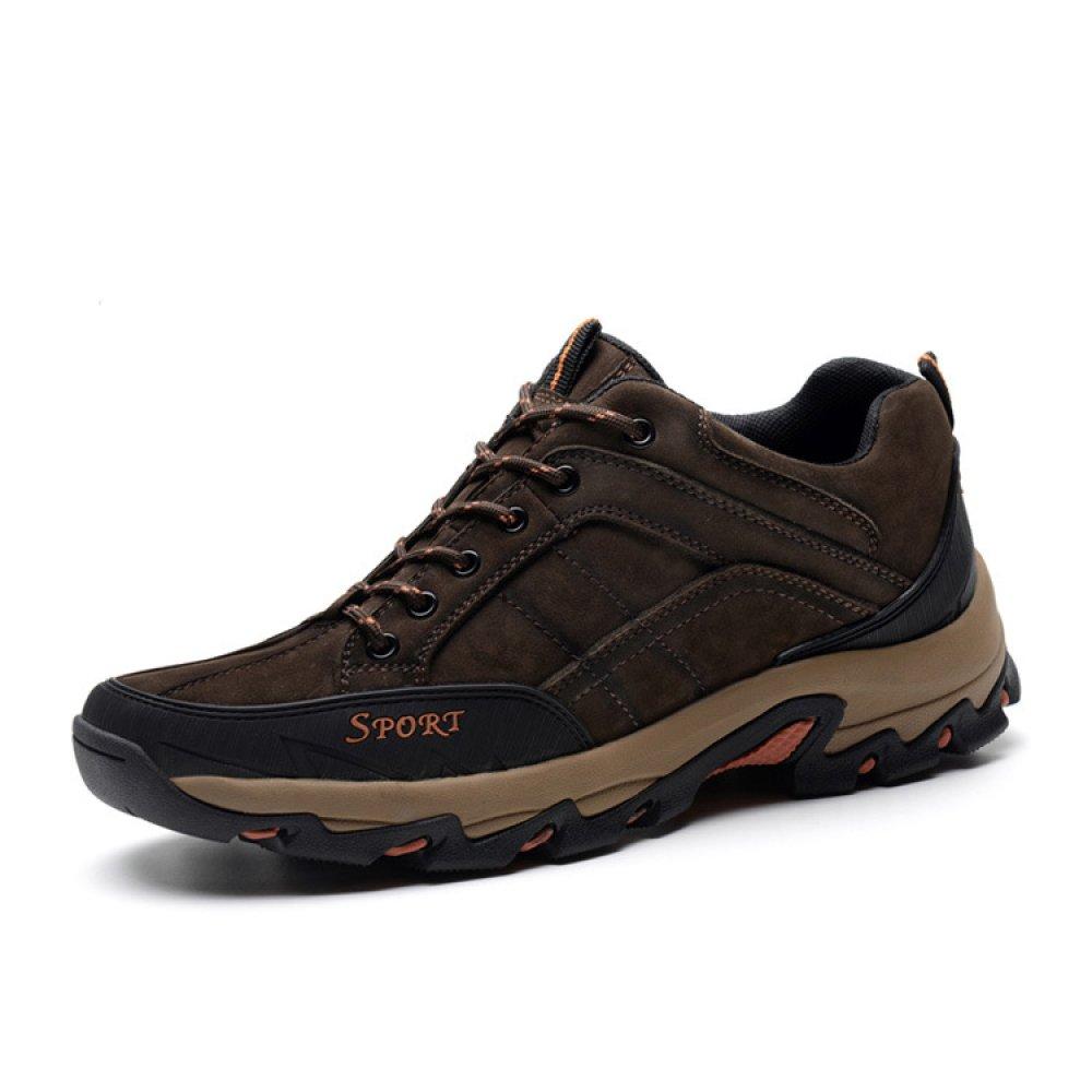 YEEOGF Botas De Montaña Impermeables De Alta Elevación Para Hombres Zapatos Ligeros De Caminata Trekking Antideslizante Zapatillas De Escalada Para Tobillo Outdoor Explorer Sneakers 44|Black