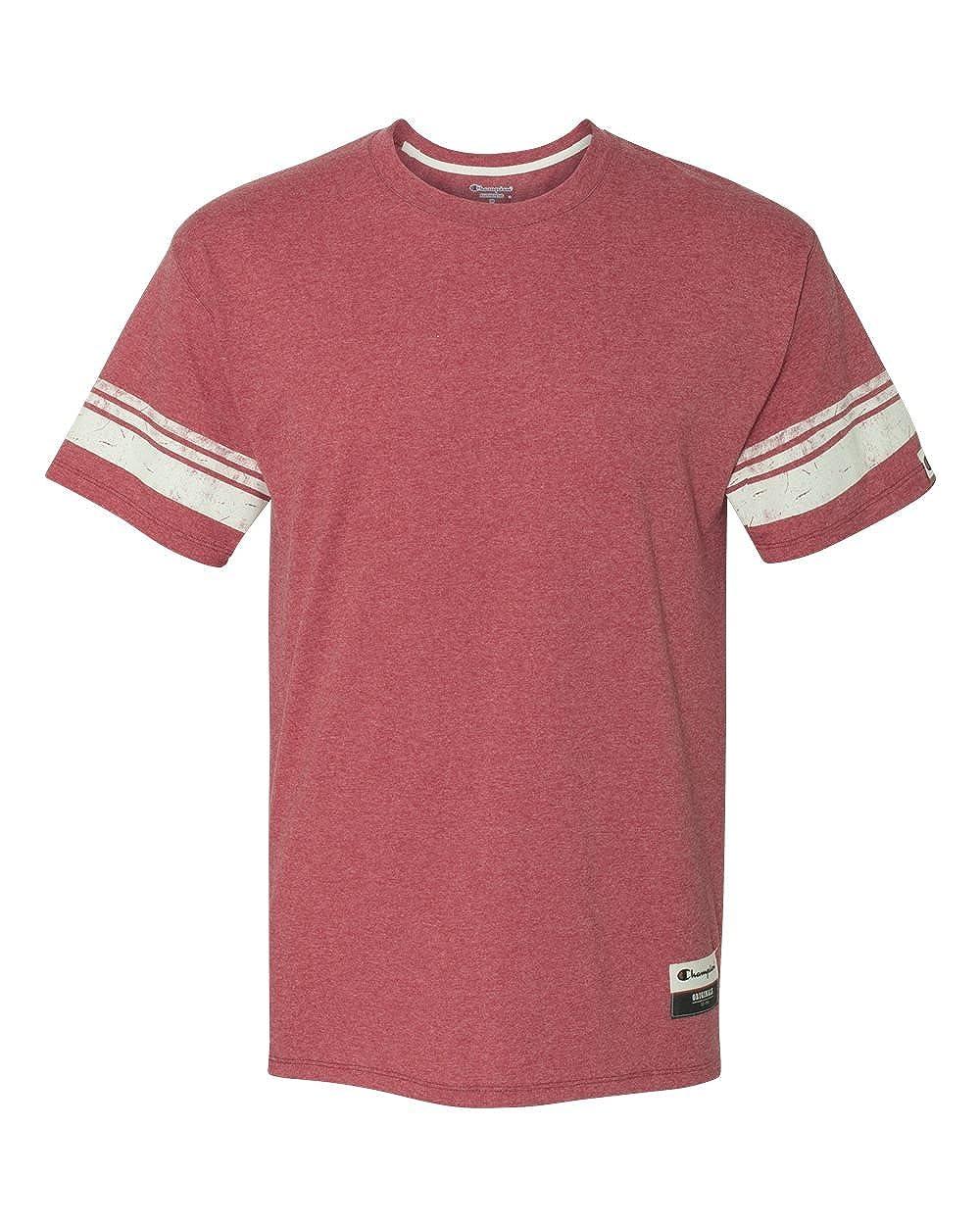 Champion Mens Authentic Originals Tri-blend Short Sleeve Varsity Tee