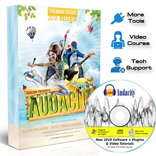 Audacity Audio Recording & Editing Software - Professional Sound Recorder Software for Windows PC & Mac - Digital Player for Common files: WAV, AIFF, MP3, OGG [Premium Edition] Audio Music Software