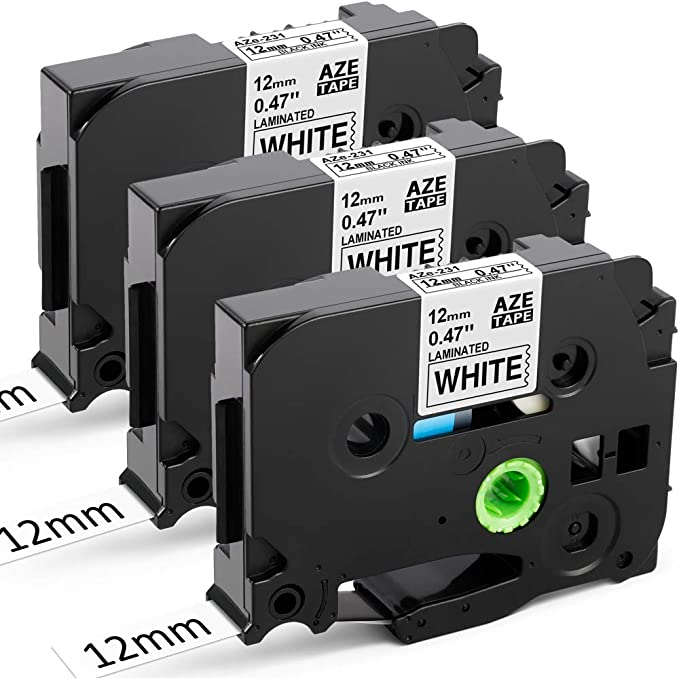 Upwinning Compatible Label Tapes as Replacement for Brother P-touch TZe-231 Tapes 12 mm Black on White Labels, TZe231 Laminated Durable AZe Tape for PT Cube H105 H110 E110 1000 1010, Pack of 3: Amazon.de: Bürobedarf & Schreibwaren