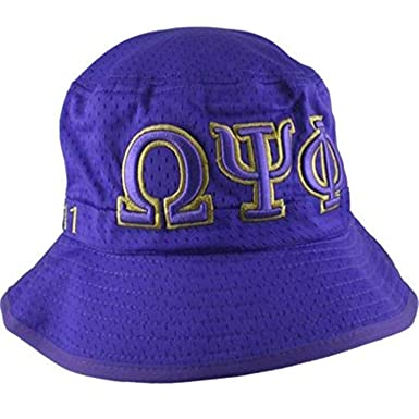 357cdd76e Omega Psi Phi Embroidered Purple Bucket Hat at Amazon Men's Clothing ...
