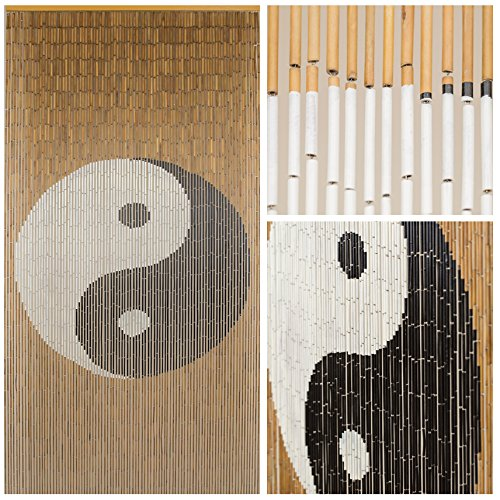 BeadedString Natural Bamboo Wood Beaded Curtain-90 Strands-80
