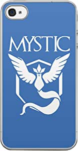 Loud Universe Apple iPhone 4S Team Mystic Logo Print Transparent Edge Case - Blue