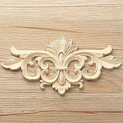 Amazon Com Lola Ling Vintage Unpainted Wood Carved Decal Corner