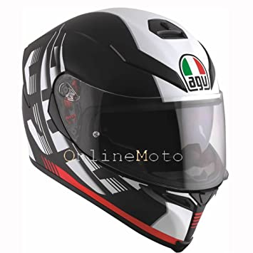 AGV K5-S Darkstorm Matt Black/Red Motorcycle Helmet