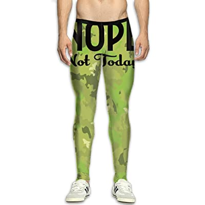 MADSDKFULA Nope Not Today Men Running Tight Trousers Workout Sport Long Pants