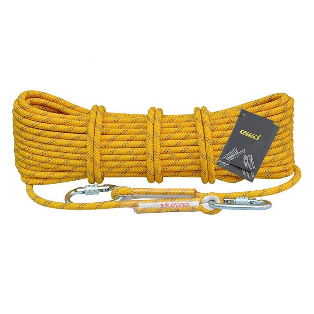 TLMYDD Corde d'escalade Corde Statique Travail aérien Corde Corde de Rappel extérieure diamètre 10.5 12   14mm Jaune Cordes (Taille   12mm 10m) 10.5mm 50m