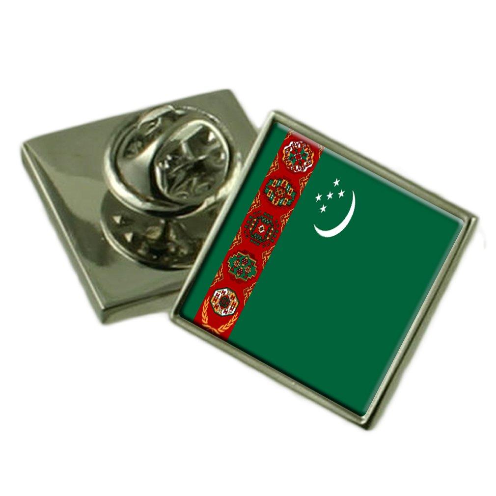 トルクメニスタンのラペルピンバッジを刻まれた個人化されたボックス   B01MUCL1AW