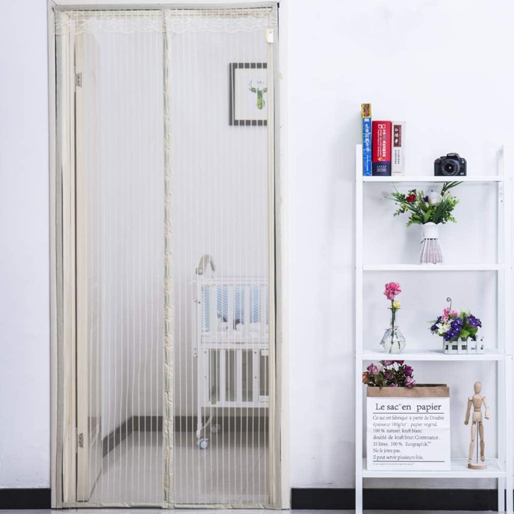 WYMNAME Super tranquila rayas cifrado Puerta de pantalla magnética de la mosca, Cinta mágica pesada pantalla cortina de malla Pantalla de insectos-negro 140x220cm(55x87inch): Amazon.es: Bricolaje y herramientas