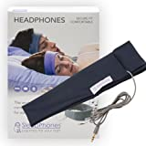 AcousticSheep SleepPhones Classic | Corded Headphones Designed for Sleep, Travel & More | Flat Speakers in a Comfortable Headband | Galaxy Blue - Breeze Fabric (Size M)