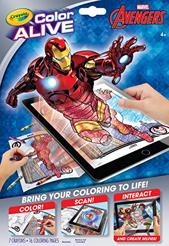 Crayola Avengers Color Alive Action Coloring Pages by Crayola