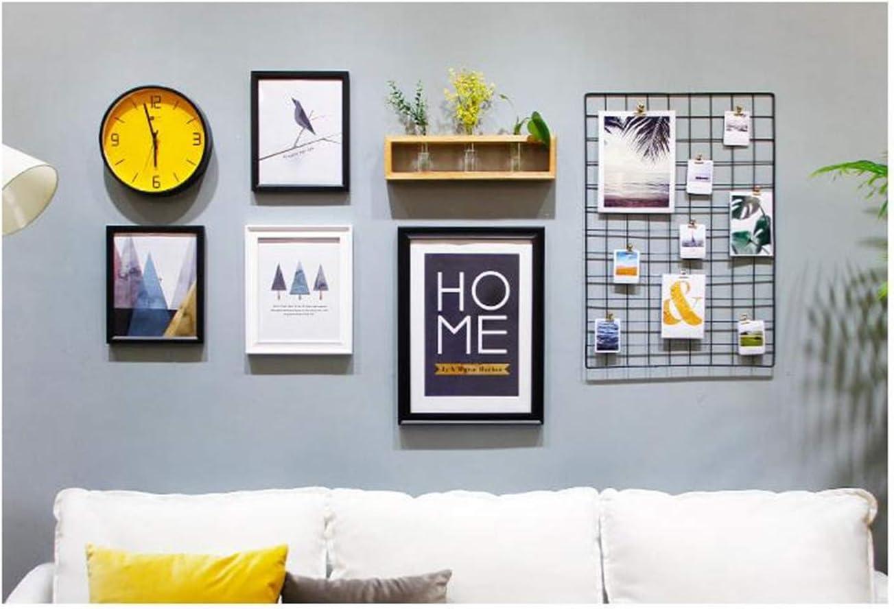 DIY Hierro Rejilla Cuadr/ícula Panel //Multifunci/ón metal Mesh pared foto pared//Decoraci/ón de la pared//organizador creativa 65*45cm BLANCO