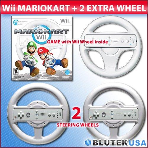 Amazon.com: NINTENDO Mario Kart with Original Wheel and 2 Extra ...