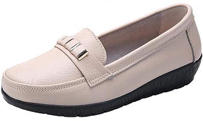 b96bea3dd1e15 Amazon.com | PPXID Women's Big Size Platform Wedge Slip On Loafers ...