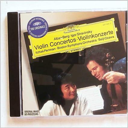 Alban Berg, Igor Stravinsky: Violin Concertos, Violinkonzerte : Itzhak  Perlman, Seiji Ozawa: Amazon.it: Musica