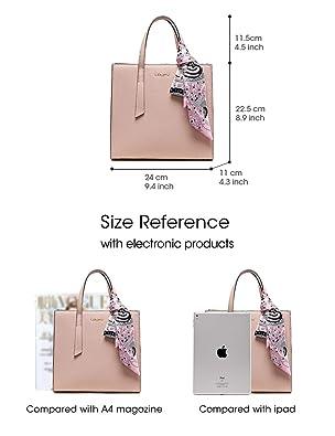 388ac22567e6 LA FESTIN Handbag for Women Fashion Buckle Pink Tote Purses Genuine Leather  Shoulder Bags Pink  Handbags  Amazon.com