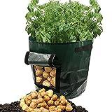 CapsA Potato Grow Bags PE Cloth Planting Container Bag Garden Bag Planter Pots Vegetable Growing Bags Outdoor (A)