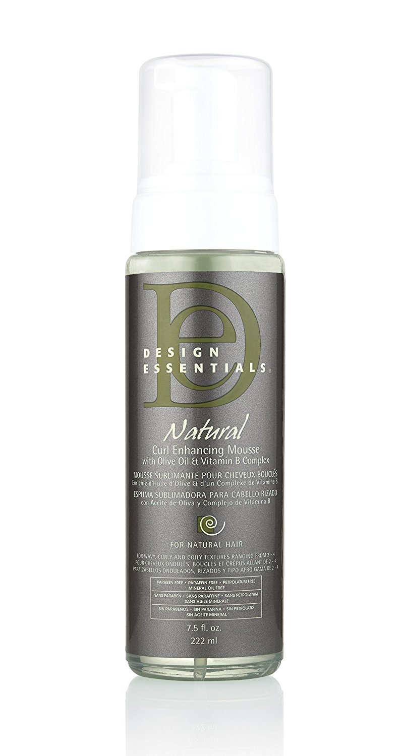 Design Essentials Natural Curl Enhancing Mousse, Quick Drying Must-Have for Perfectly Defined Luminous Curls-Almond & Avocado Collection, 7.5oz by Design Essentials