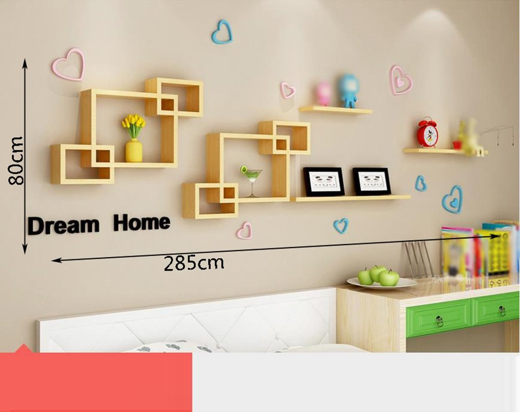 ANDEa クリエイティブ格子、木パイン壁にシンプルなファッショントレンド寝室居間テレビの壁面フリーパンチデコレーションシェルフパーティション環境強くて丈夫 独創性 ( 色 : C ) B071WL8PWH C