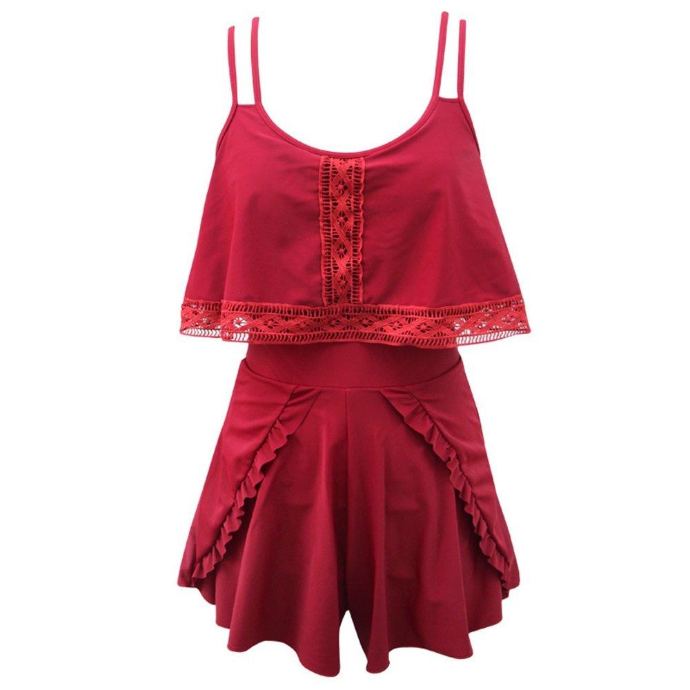 女性の 水着 ビキニ スイミングトランク スパ 水着 ドレス 保守的な 水着 水着 セット に適して カジュアル 旅行 (Size : L) B07F43LKC5 Large