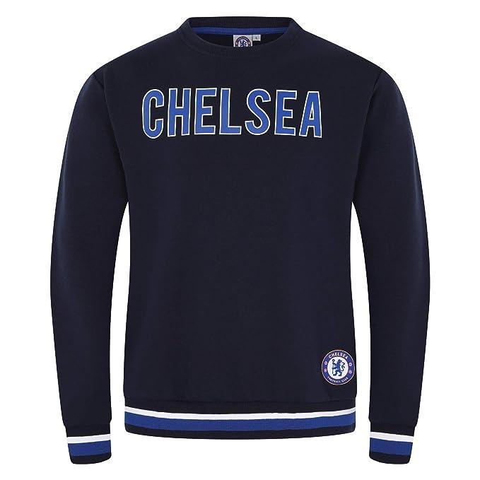 Chelsea FC - Sudadera Oficial para Hombre - con el Escudo del Club - Azul Marino - Texto - XXL: Amazon.es: Ropa y accesorios
