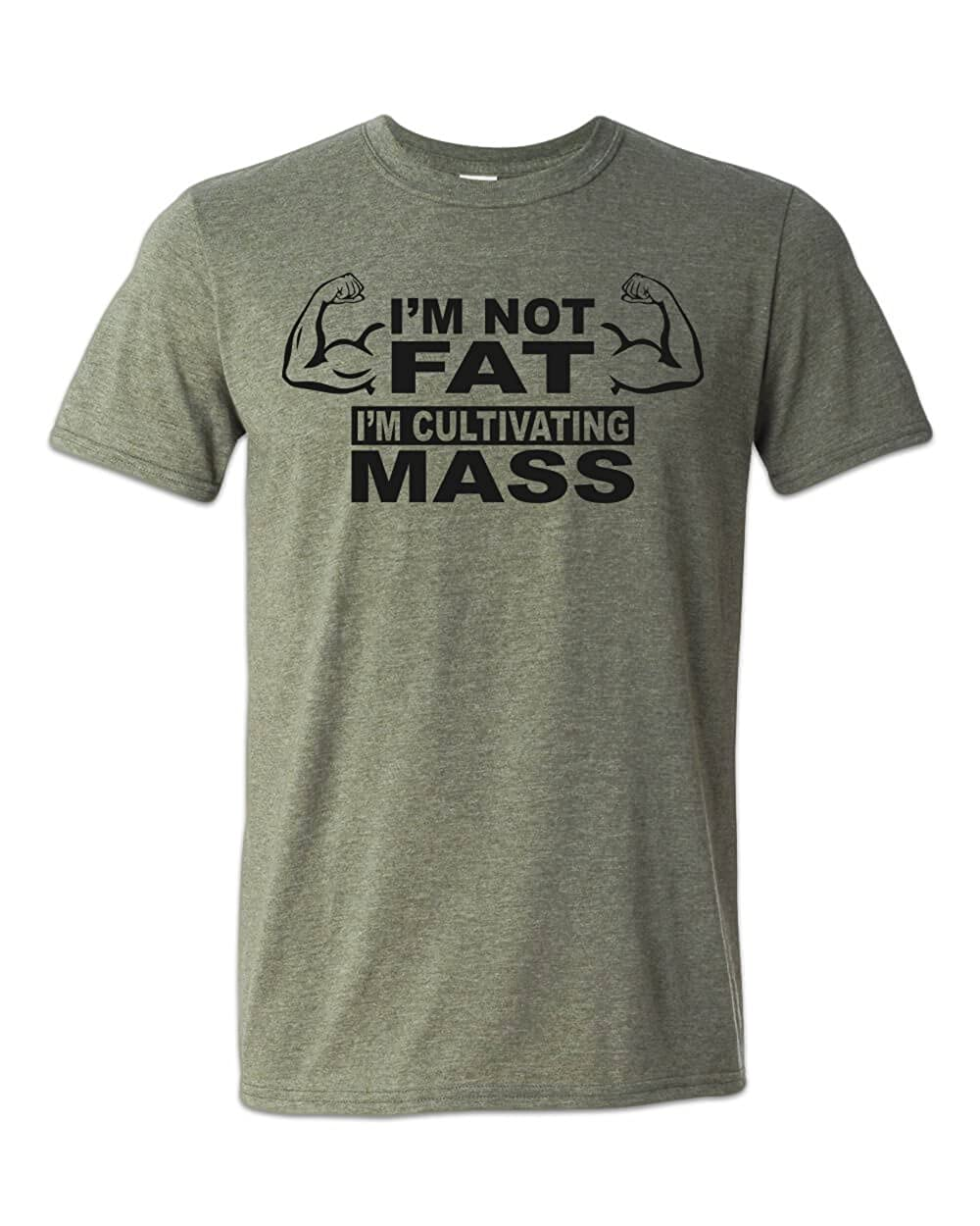 Zepp Tees Im Cultivating Mass T-Shirt Funny Weight Lifting Guy